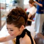 パーティーヘアー|青葉区、藤が丘、美容室、フラップヘアー