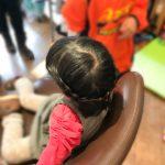 アナゆきヘアー,編み込み,子供カット,kid'sカット,美容室,フラップヘアー,藤が丘